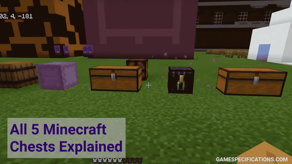 minecraft chests