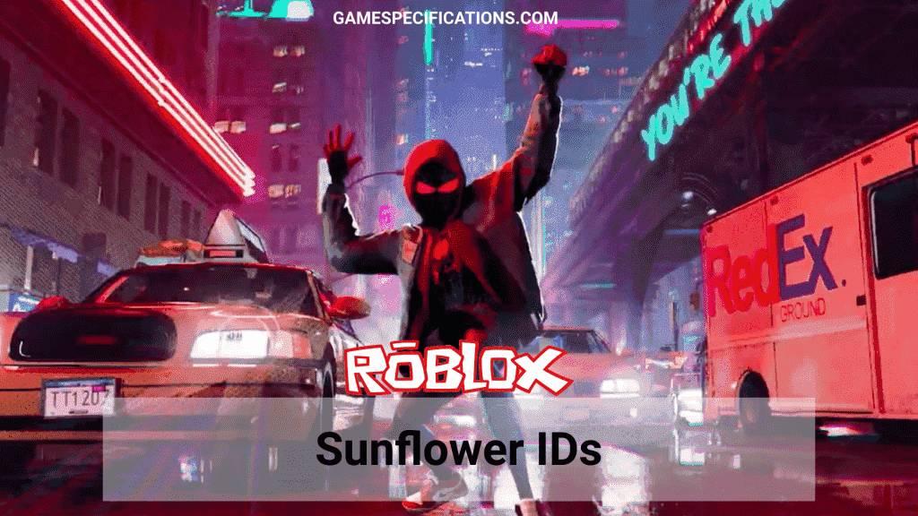 sunflower Roblox id list