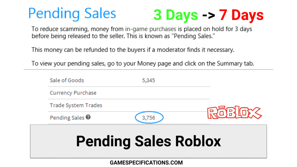 pending sales roblox update