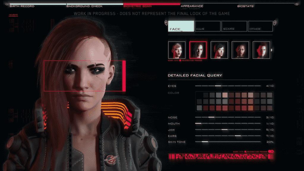 Cyberpunk V Character Customization