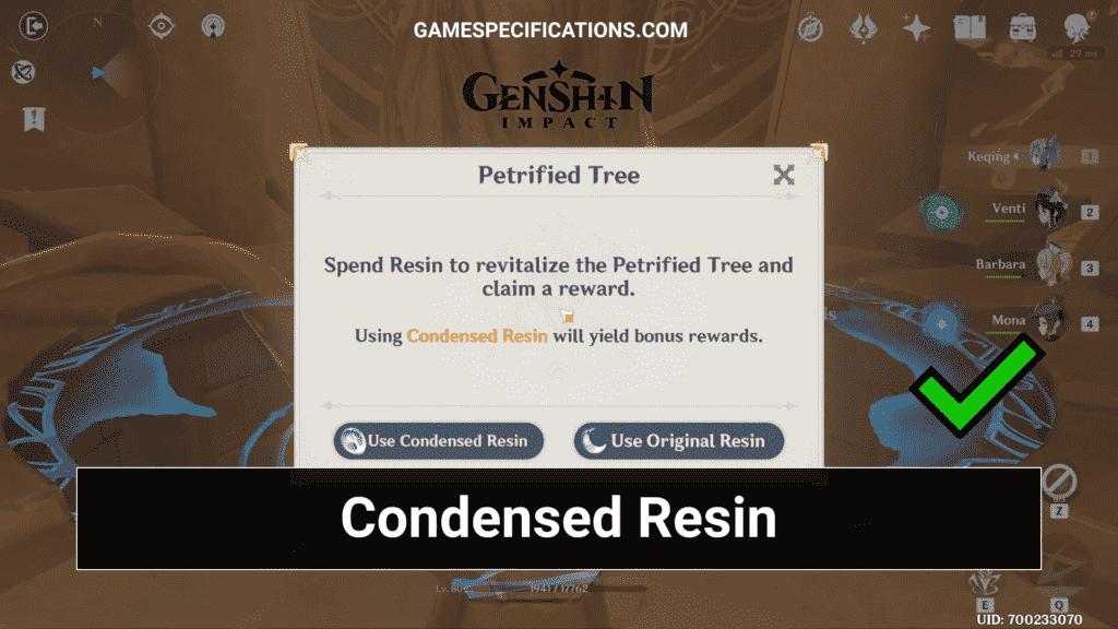 Genshin Impact Condensed Resin