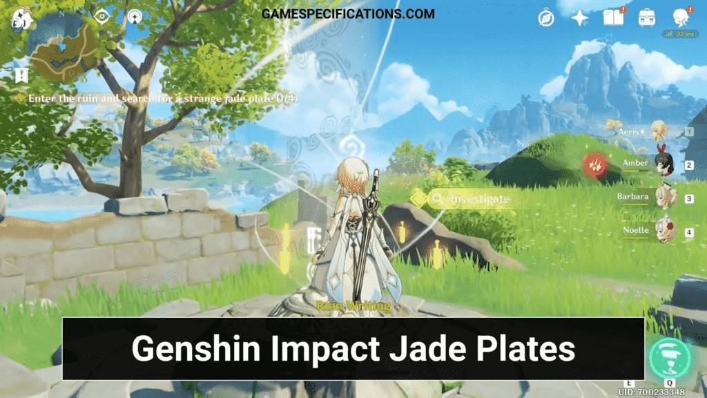 Genshin Impact Jade Plate Investigate