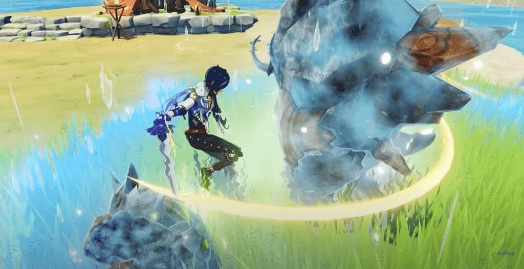 Kaeya Elemental Attack