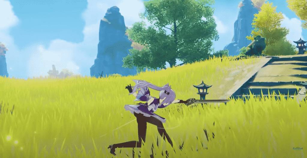 Keqing Sword-Swinging