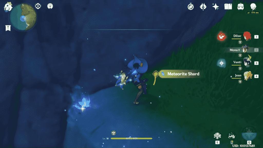 Genshin Impact Meteorite Shard Appearance
