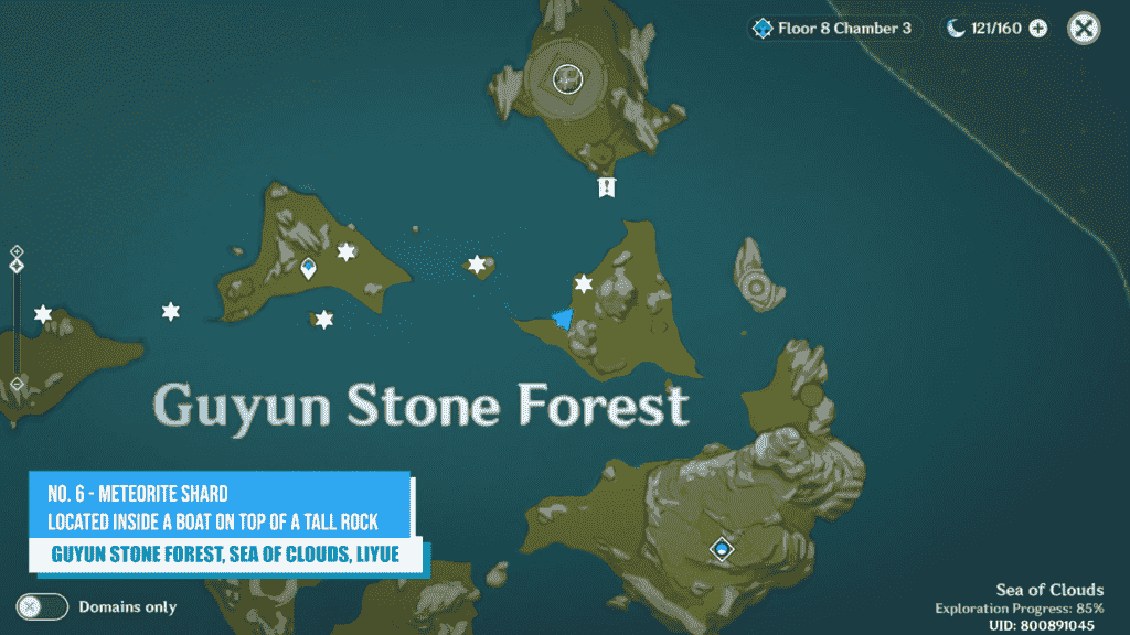Meteorite Shard Location Guyun Stone Forest