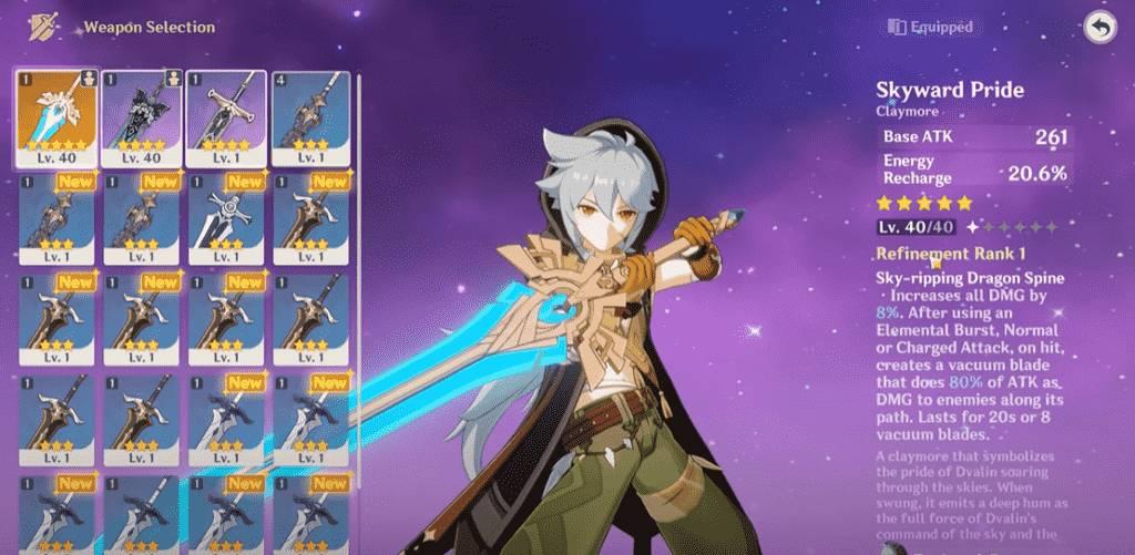 Genshin Impact Razor Weapons