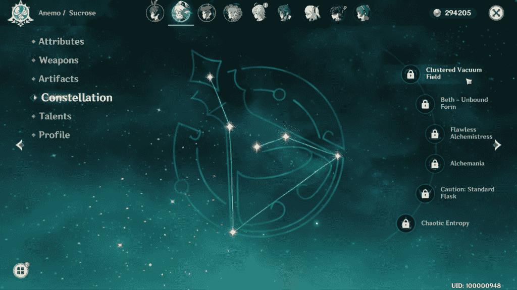 Sucrose Constellations