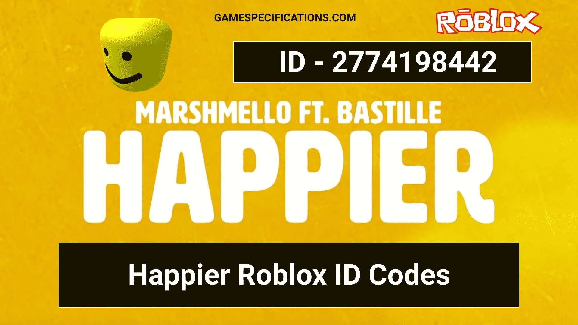 roblox id code for happier