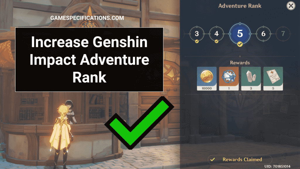 Increase Adventure Rank Genshin Impact