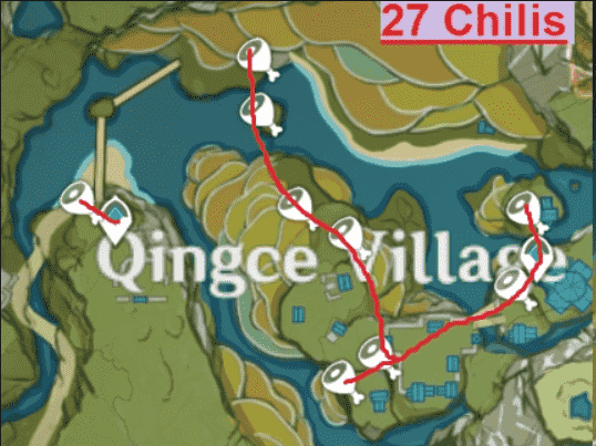 Genshin Impact Qingce Village Map