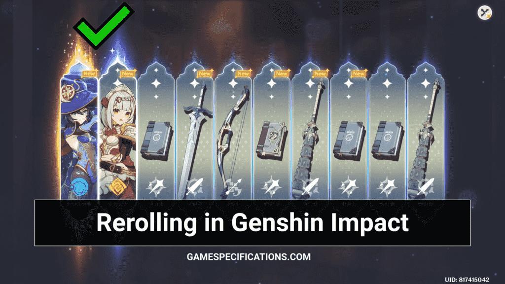 Reroll Genshin Impact