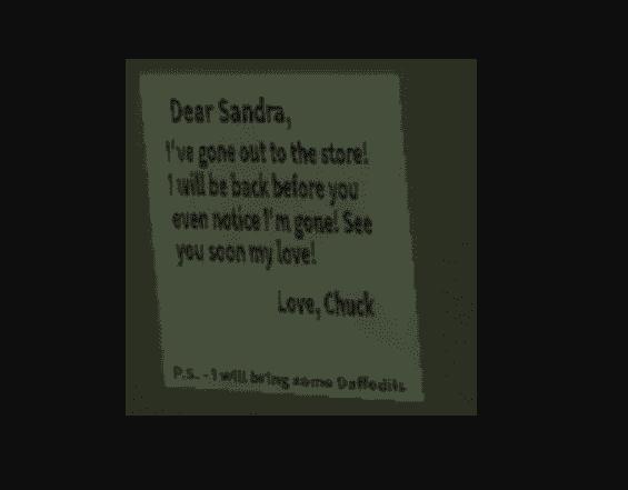 Chuck Lloyd to Sandra Letter