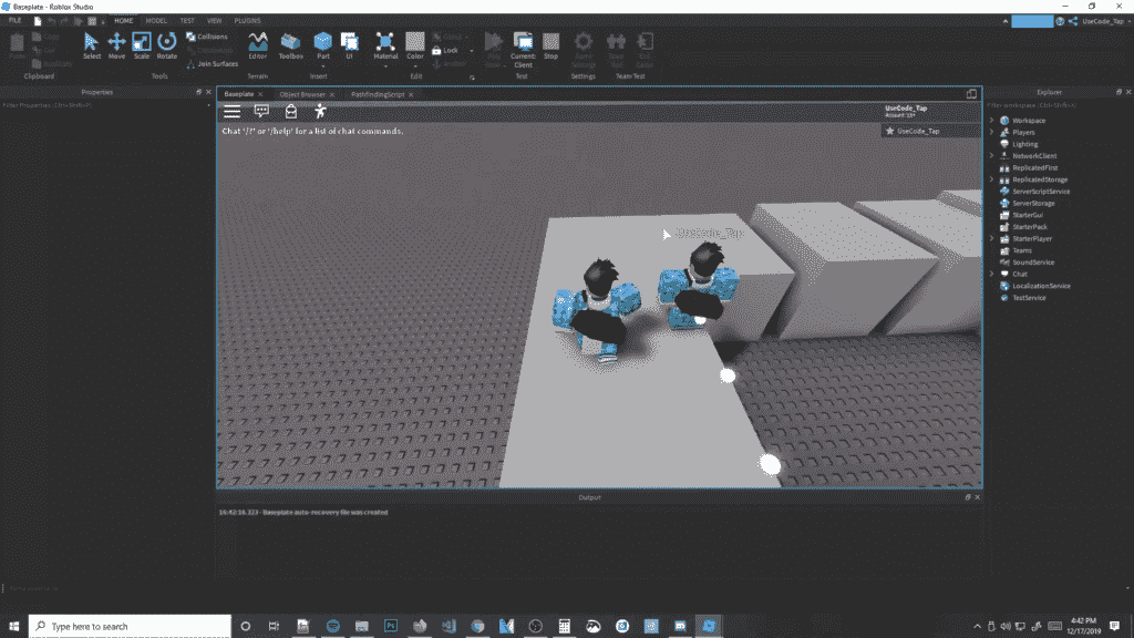 Roblox Pathfinding Moving Between objects