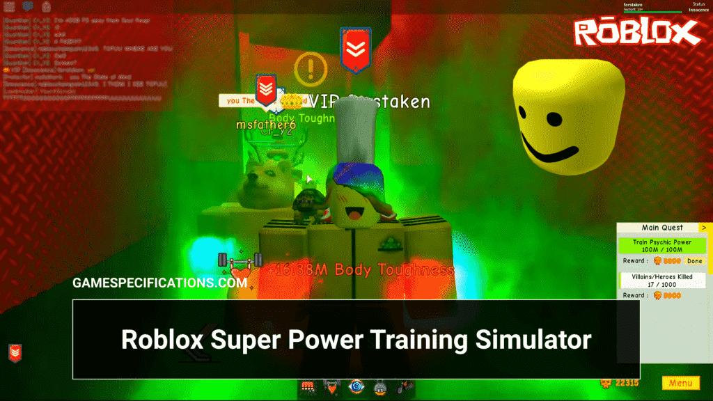 Roblox Super Power Training Simulator