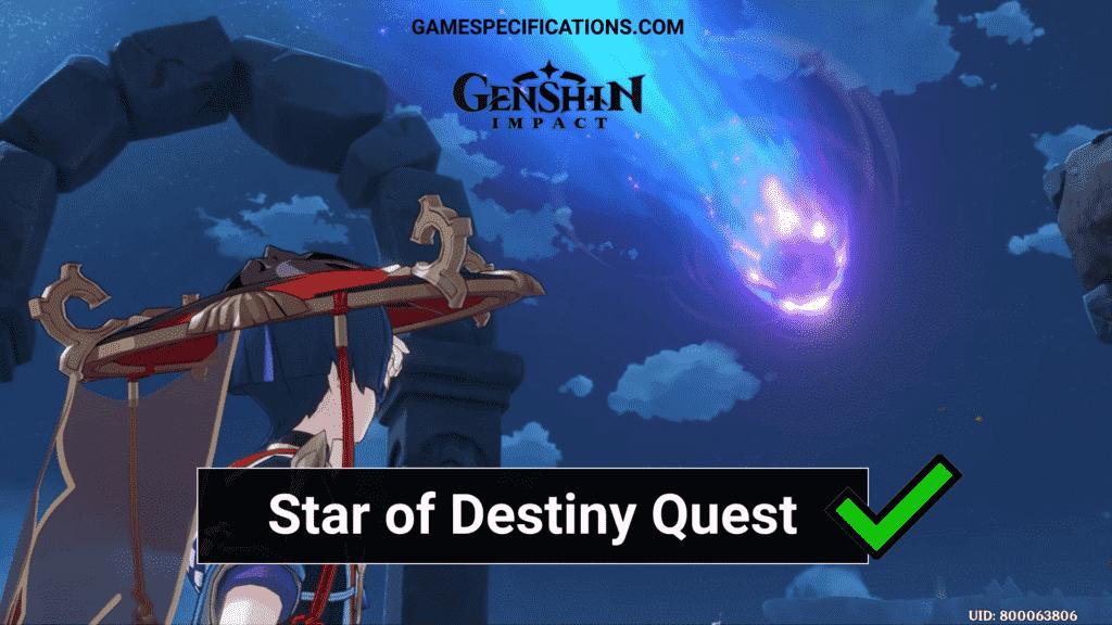 Star of Destiny Quest Genshin Impact