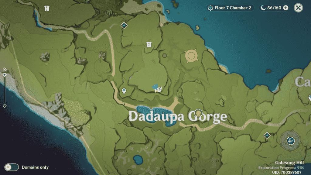Unusual Hilichurl Location Daduapa Gorge