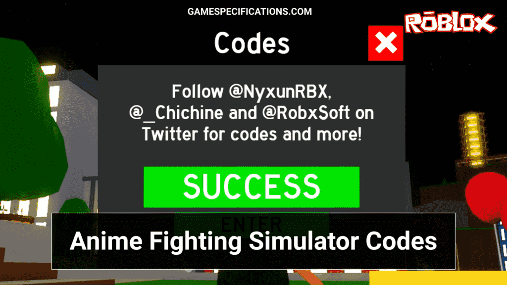 Roblox Codes for Anime Fighting Simulator