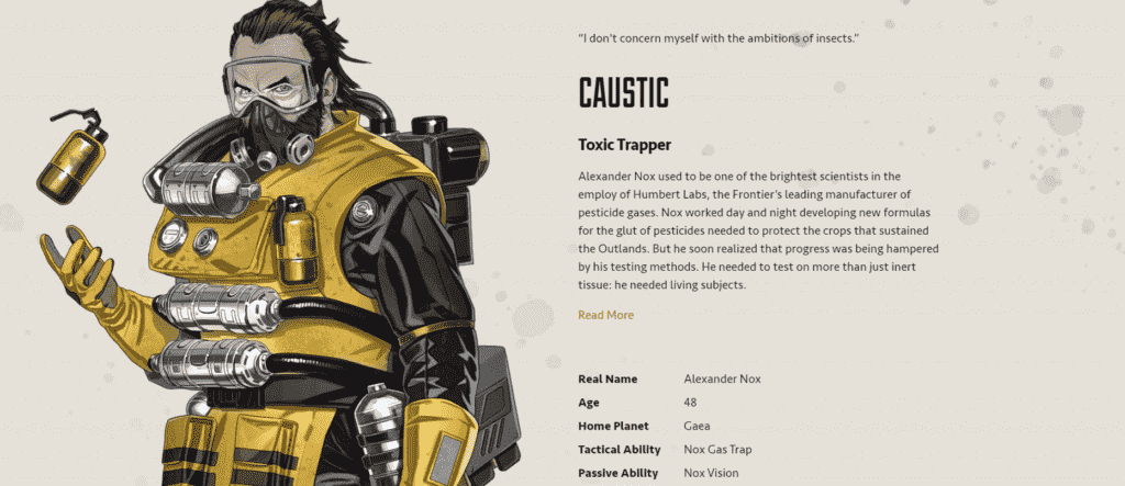 Apex Legends Tier List Caustic