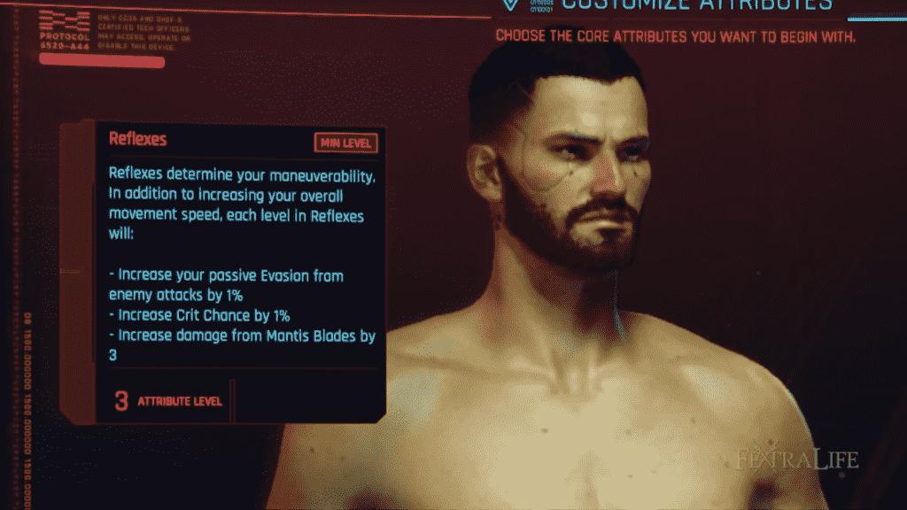 Cyberpunk 2077 Character Creation Attributes