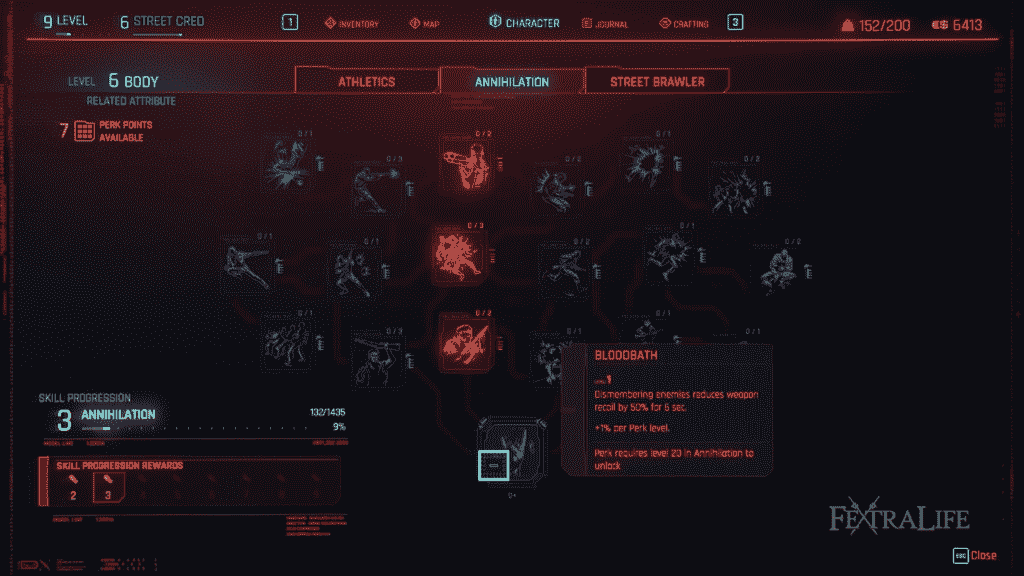 Cyberpunk 2077 Character Creation Body Perks