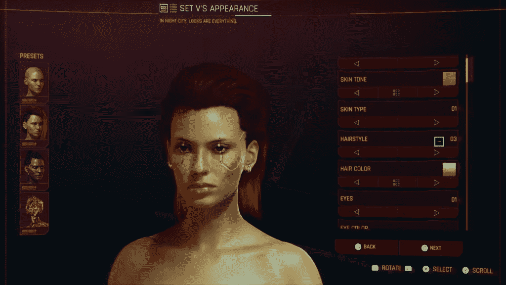 Cyberpunk 2077 Character Creation Options