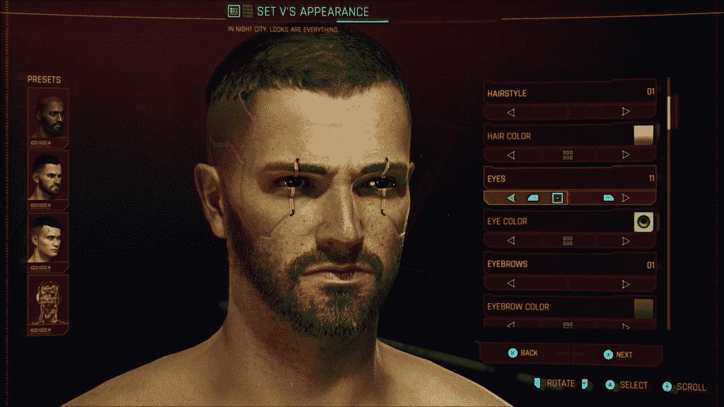 Cyberpunk 2077 Character Creation Options 2