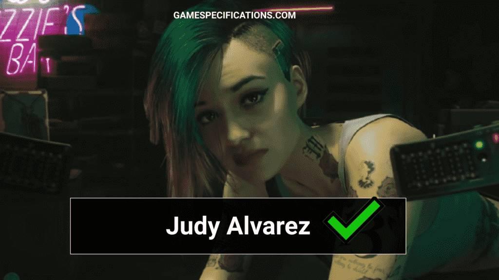 Cyberpunk Judy Alvarez