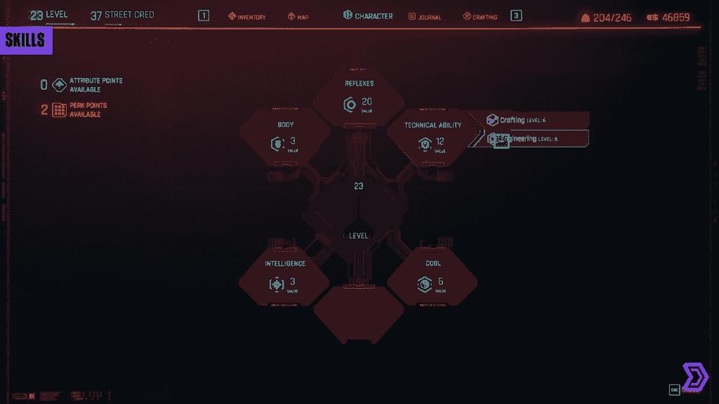 Skill Point Cyberpunk