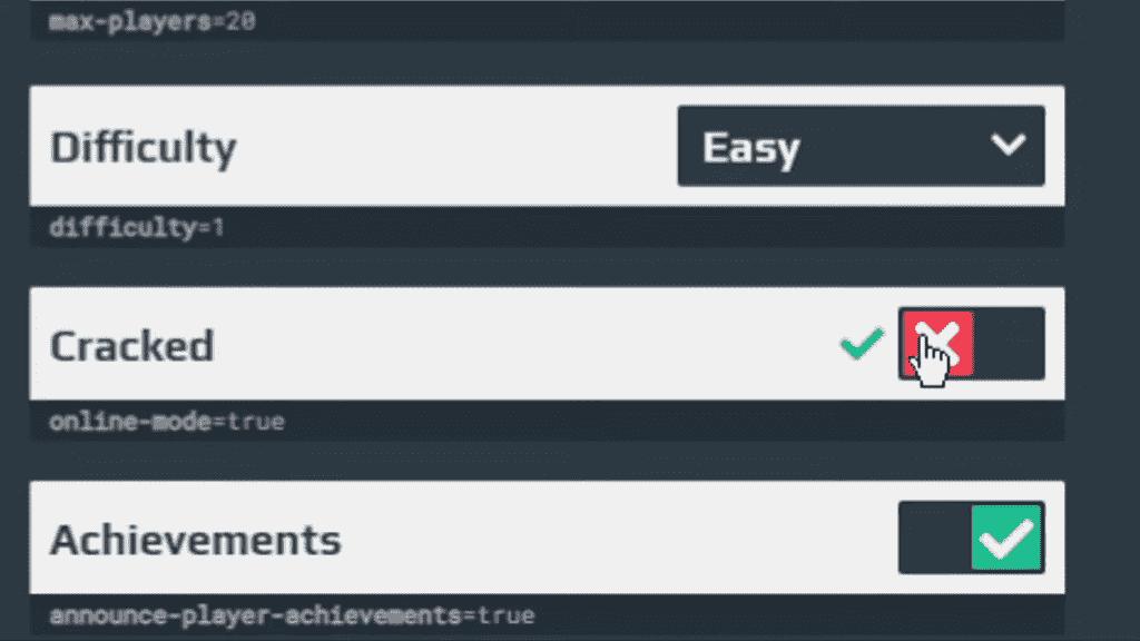 Failed to verify the personal server minecraft