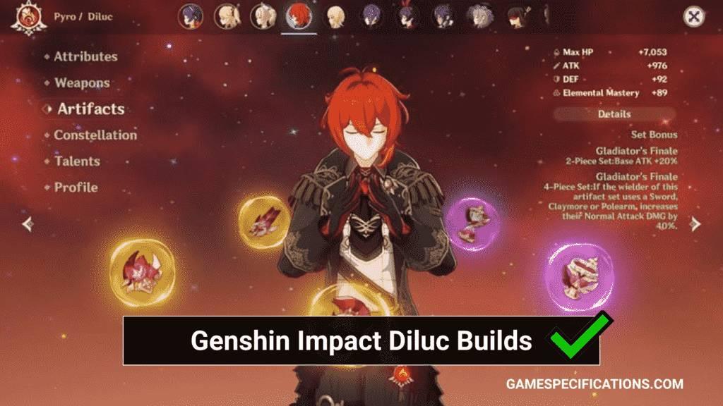Genshin Impact Diluc Builds