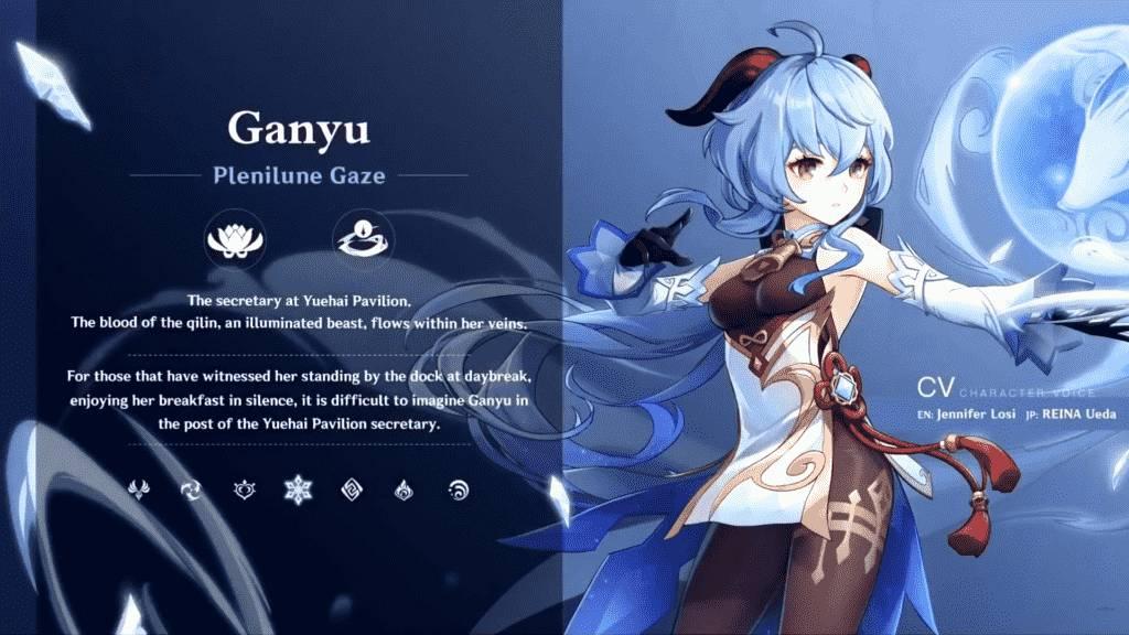 Genshin Impact Ganyu Talents