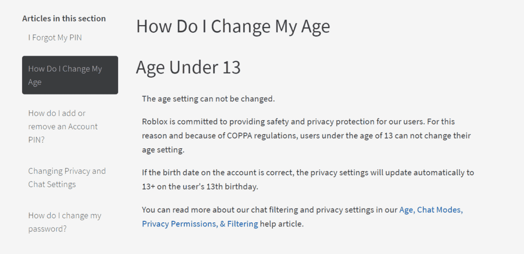 How To Change Your Birthday on Roblox under 13 years