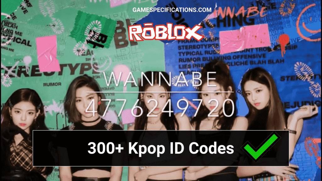 Kpop Roblox ID Codes