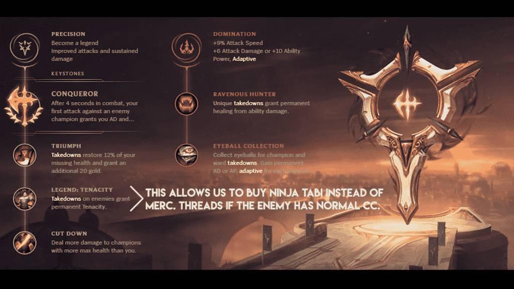 Effect of Lol Conqueror Rune