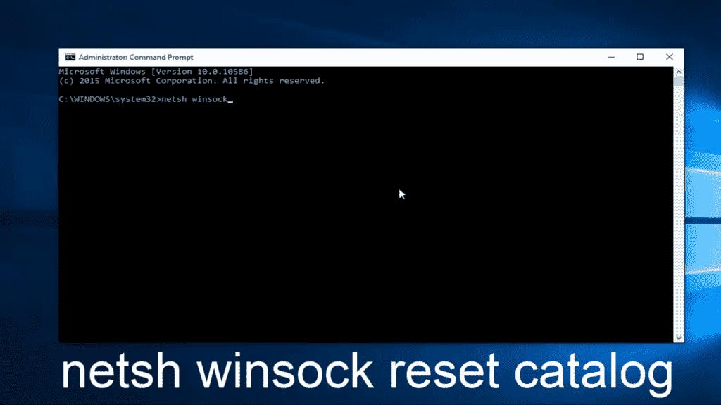 Reset netsh