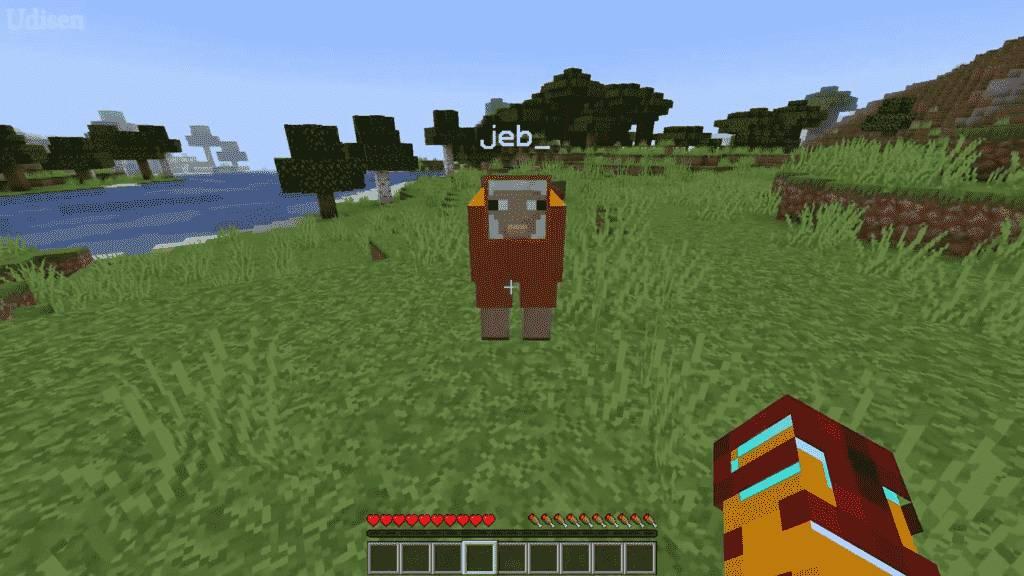 create rainbow sheep in minecraft