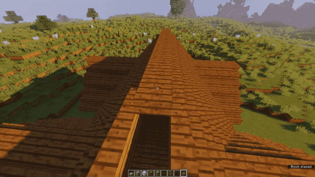 Minecraft-Tavern-Roof-Completion
