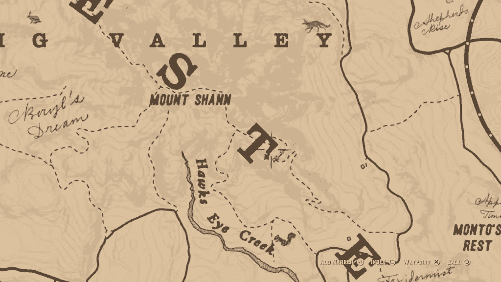 Second Rock Carving Location
