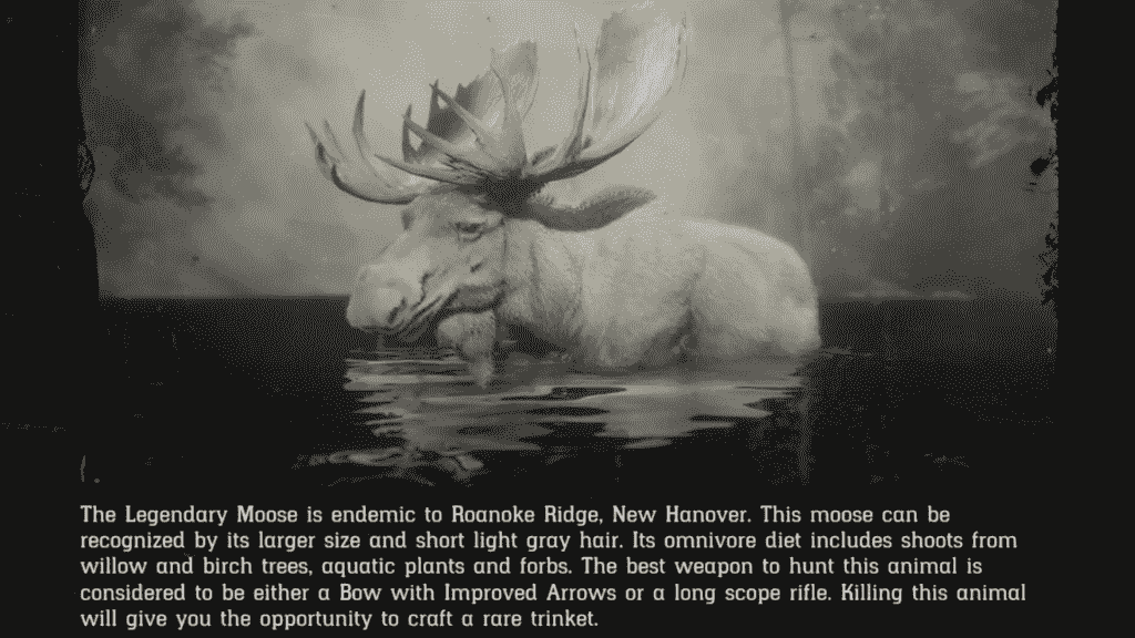 RDR2 Legendary Moose