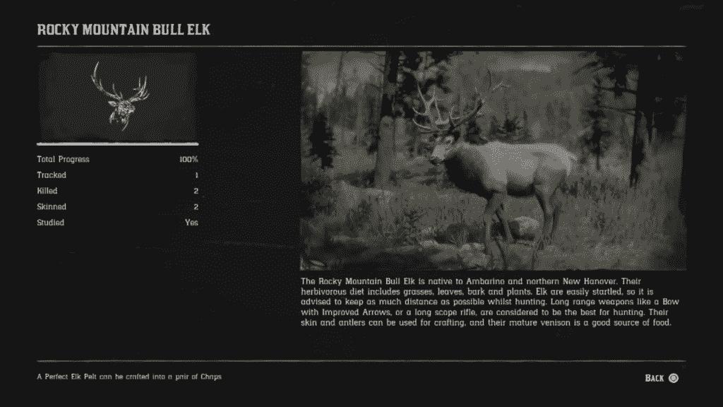 Red Dead Redemption 2 Rocky Mountain Bull Elk