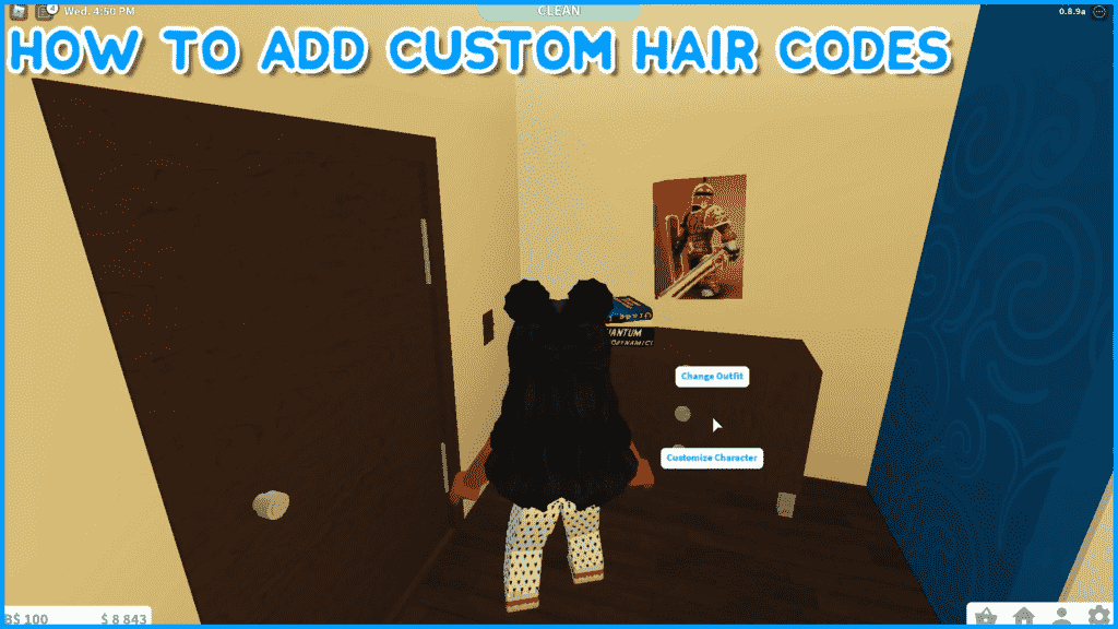 Customize hairs in Roblox