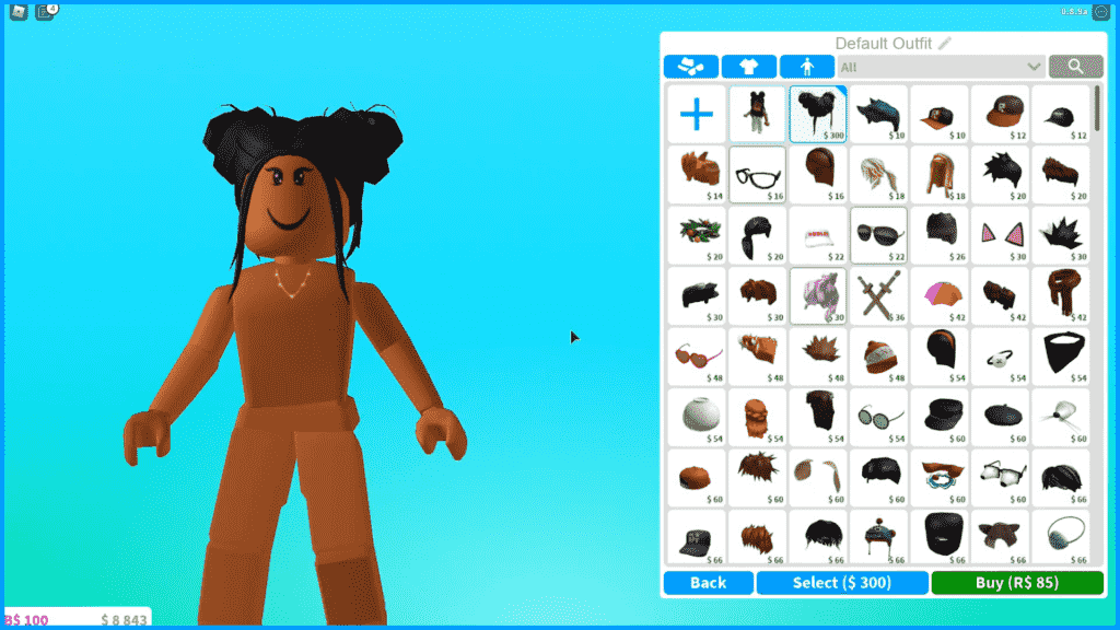 Customize Roblox avatar