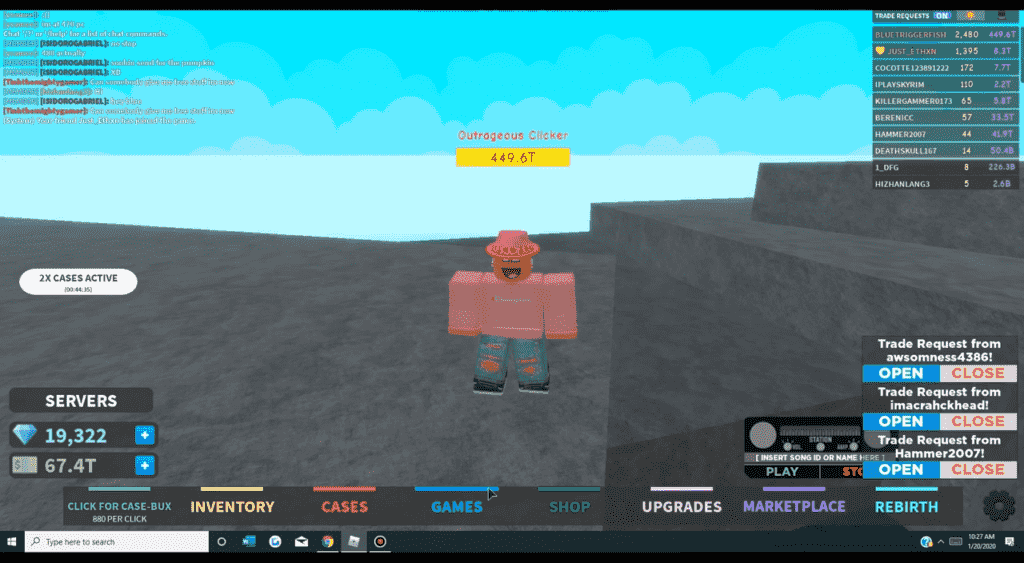Roblox Case Clicker Gameplay