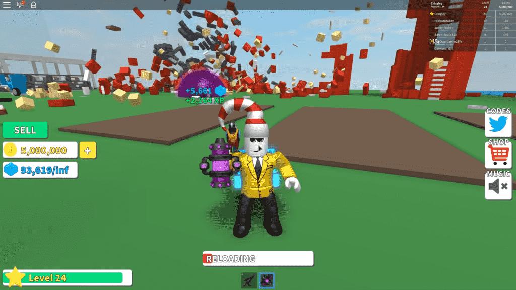 Playing Roblox Destruction Simulator