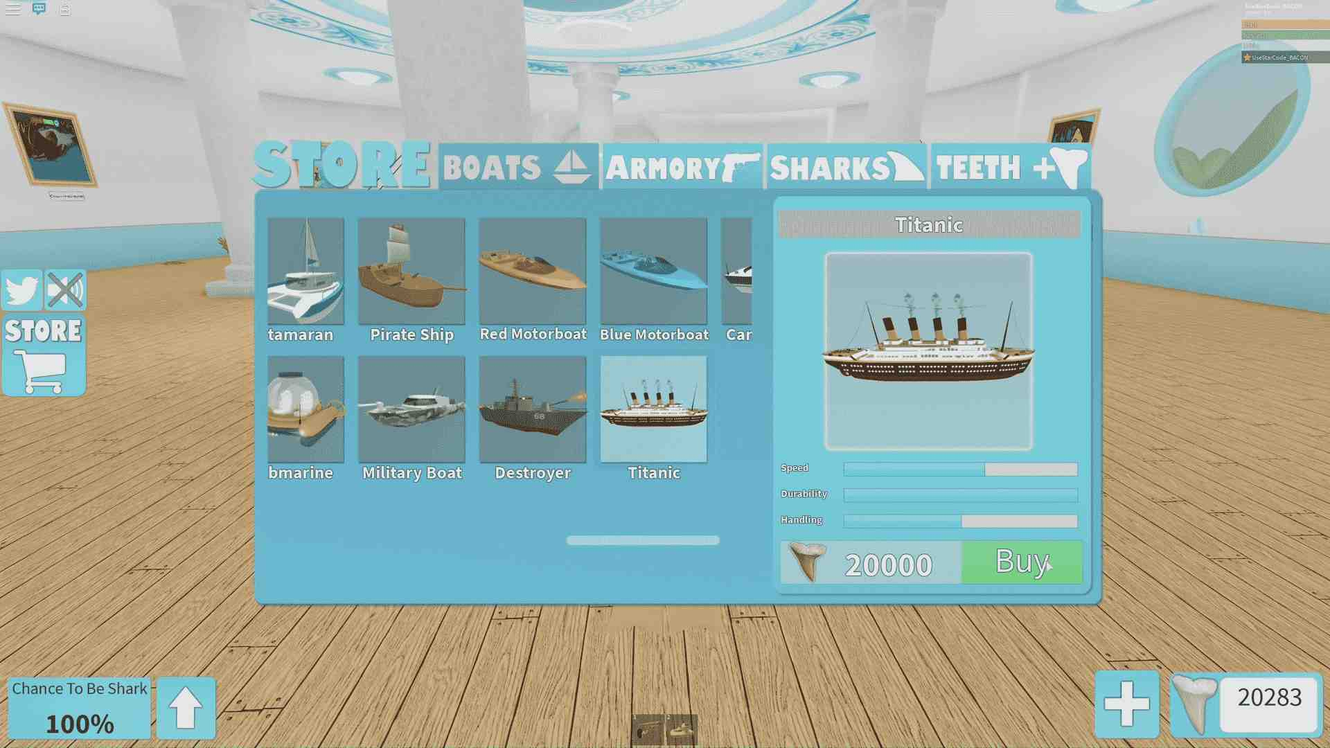 18 Roblox Sharkbite Codes To Get Free Shark Teeth March 2021 Game Specifications
