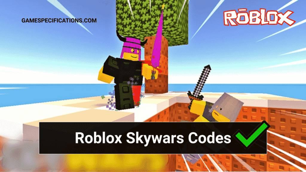 Roblox Skywars Codes