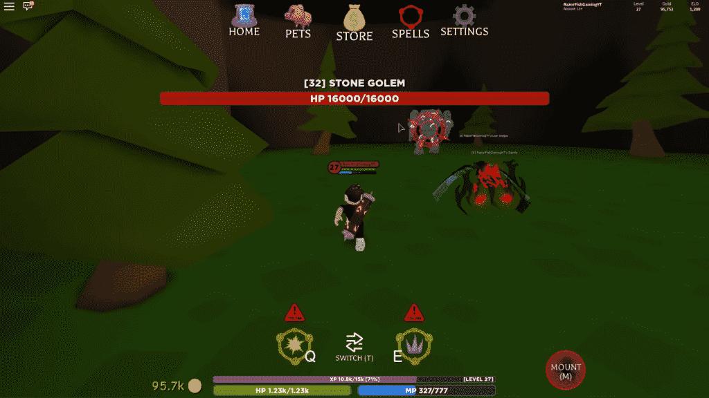Roblox Wizard Simulator Gameplay