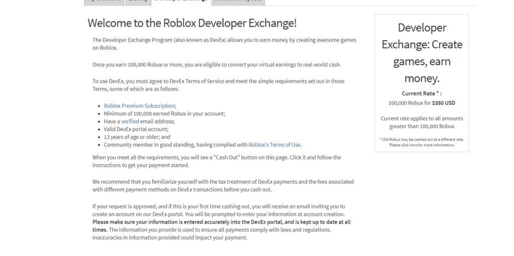 Robux for free developer program