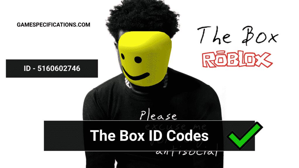 The Box Roblox ID Codes